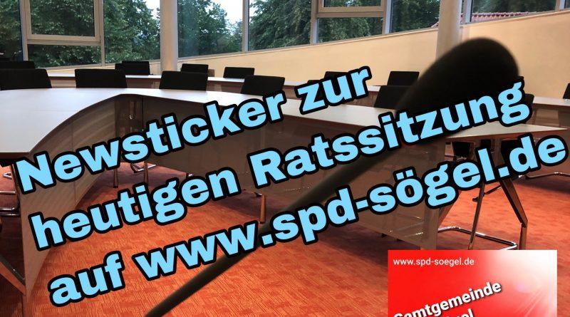 Newsticker zur Ratssitzung des Gemeinderates Sögel